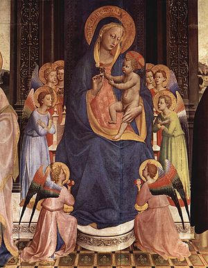 Convent of San Domenico, Fiesole - Central part of the Pala di Fiesole by Fra Angelico