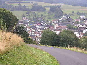 """Frammersbach - Frammersbach from Bäckersberg (""""Baker's Hill"""")"""