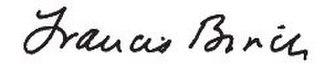 Francis Birch (geophysicist) - Image: Francis Birch signature