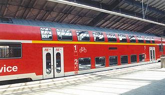 Frankfurt (Oder) station - Regional-Express in the train shed in Frankfurt (Oder)