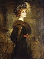 Franz von Lenbach - Portrait of a Lady, standing three-quarter length.jpg