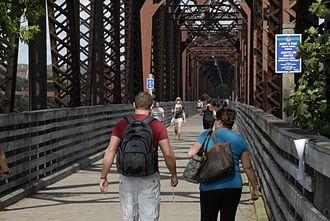 Fredericton Railway Bridge - The Fredericton Railway Bridge, now called the Bill Thorpe Walking Bridge.