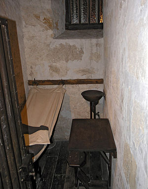 Punishment in Australia - A recreation 1855 cell in Fremantle Prison.