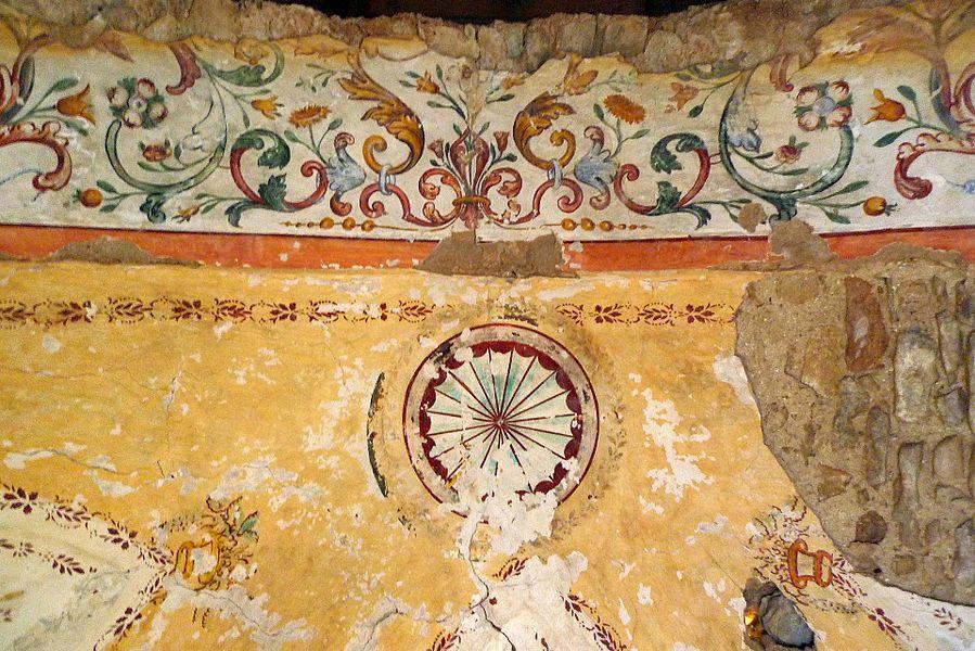 Peintures intérieures de la Chapelle Santa Maria d'Arca en 2012