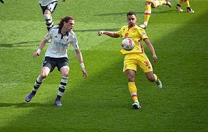 Josh Murphy - Murphy (right) playing for Milton Keynes Dons in 2016