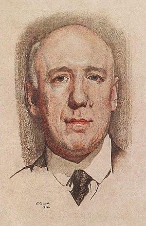 Fyodor Sologub - Portrait of Fyodor Sologub by Konstantin Somov, 1910.