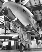 The GAU-8/A Avenger autocannon, mounted in an A-10 Thunderbolt II