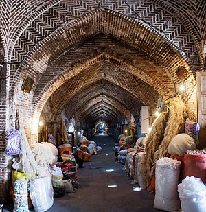 "Bazaar of Tabriz - ""Gan"" means Wide in Turkish language; The Grand Bazaar of Tabriz is worlds biggest in its kind, it has a large effect in economy and culture of Iranian people."