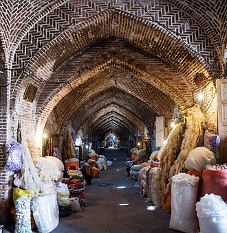 """Bazaar of Tabriz - """"Gan"""" means Wide in Turkish language; The Grand Bazaar of Tabriz is worlds biggest in its kind, it has a large effect in economy and culture of Iranian people."""