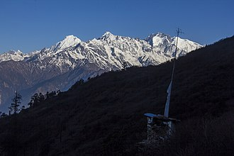 Ganesh Himal - Image: Ganesh Mountain range seen from Chandanbari, Rasuwa. (By Saroj Pandey)