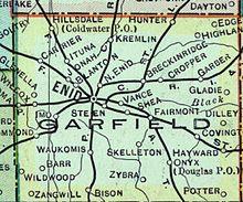 Counties Of Oklahoma Map With Cities.Garfield County Oklahoma Wikipedia