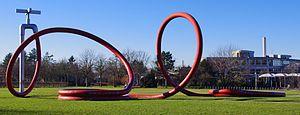 Green spaces in Freiburg - Red garden hose