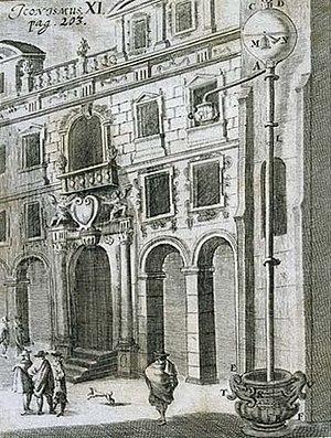 Gasparo Berti - Gasparo Berti's experiment in atmospheric pressure.