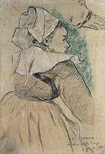 Gauguin - Bretonne de profil à droite.jpg