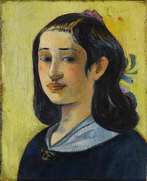 "Paul Gauguin - Aline Marie Chazal Tristán, (1825-1867) ""The Artist's Mother"", 1889, Staatsgalerie Stuttgart."