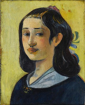 "Paul Gauguin - Aline Marie Chazal Tristán, (1825–1867) ""The Artist's Mother"", 1889, Staatsgalerie Stuttgart."