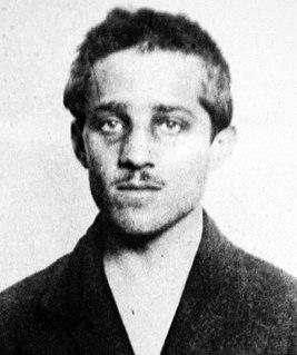 Gavrilo Princip Bosnian Serb who assassinated Archduke Franz Ferdinand
