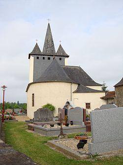 Geüs-d'Oloron (Pyr-Atl, Fr) L'église coté chevet.JPG
