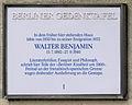 Gedenktafel Prinzregentenstr 66 Walter Benjamin2.JPG