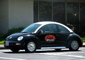 English: A Geek Squad Volkswagen New Beetle sp...