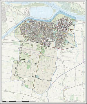 Oud-Beijerland - Dutch Topographic map of the municipality of Oud-Beijerland, June 2015