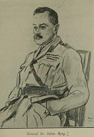 Julian Byng, 1st Viscount Byng of Vimy - A wartime sketch of General Byng