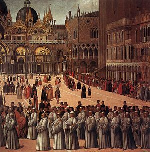 Procession in St. Mark's Square - Detail.