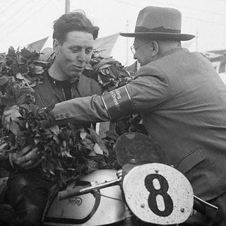 Geoff Duke British motorcycle racer
