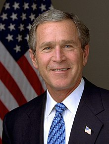 A portrait of former U.S. President George W. Bush.