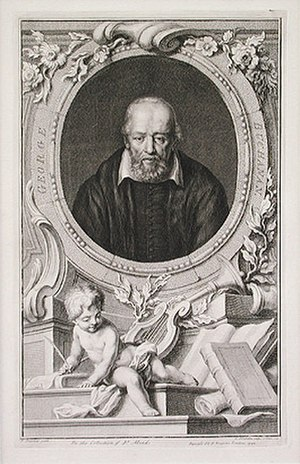 George Buchanan - Buchanan, original engraving by Jacobus Houbraken