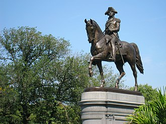 Thomas Ball (artist) - George Washington (1864), The Public Garden, Boston, Massachusetts.
