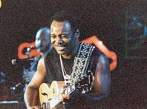 1986 in jazz - George Benson in 1986 at Montreux Jazz Festival.