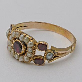 Pearl - Georgian seed pearl gold ring.jpg