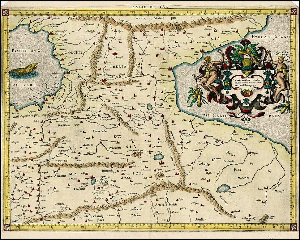 Gerard Mercator. Tabula Asiae III (Armenia, Georgia, Turkey, etc.). 1579