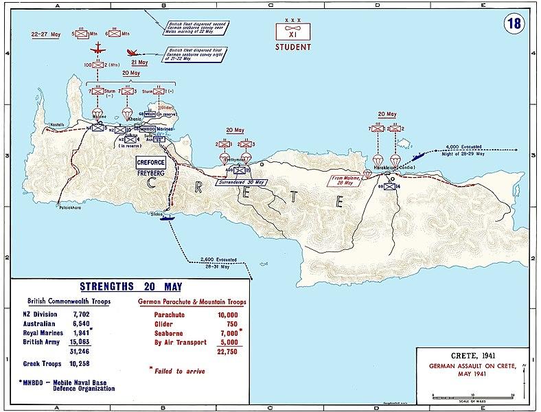 German Original Maps Document From Crete Greece Histomil Com