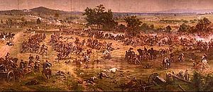 Paul Philippoteaux - Large section of the Gettysburg Cyclorama depicting Pickett's Charge up Cemetery Ridge.