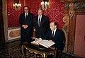 Gianni De Michelis, Ugo Bergamo and François Mitterand.jpg
