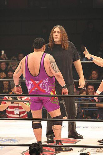 Akebono Tarō - Akebono facing down Takada Monster Army member Giant Silva