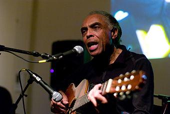 1999 award winner Gilberto Gil performing in 2007 Gilberto Gil with guitar.jpg