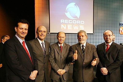 Gilberto Kassab, José Serra, Edir Macedo, Lula, and Alexandre Raposo