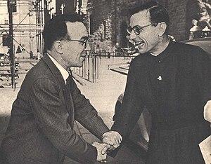 Jean Daniélou - Giorgio La Pira and Daniélou in Florence, 1953