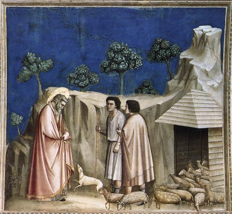 Giotto di Bondone - No. 2 Scenes from the Life of Joachim - 2. Joachim among the Shepherds - WGA09170