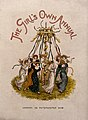 Girls in long dresses dance around a maypole. Wellcome V0040190.jpg