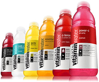 Energy Brands - Six different kinds of VitaminWater