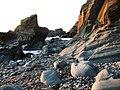 Glen Maye, beach, evening sunlight - geograph.org.uk - 777849.jpg