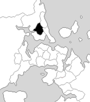 Glenfield (New Zealand electorate) - Glenfield electorate boundaries between 1993 and 1996.
