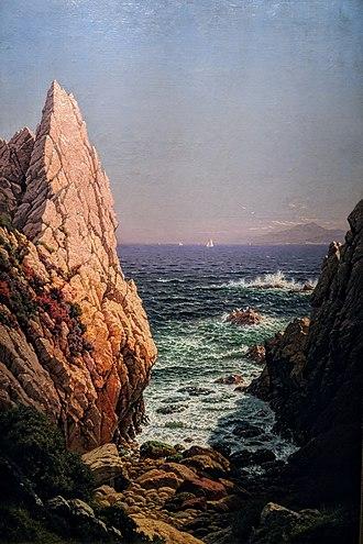 Raymond Dabb Yelland - Yelland's Glimpse of Monterey Bay, 1879