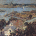 Gloucester Harbor painting by John H Twachtman circa1900 Canajoharie Library.png