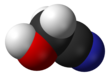 Spacefill model of glycolonitrile