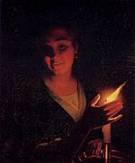 Godfried Schalcken - Young Girl with a Candle - WGA20944.jpg
